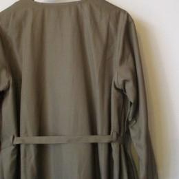 Twill cache-coeur coat