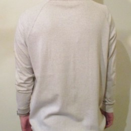 High-necked cut and sewn
