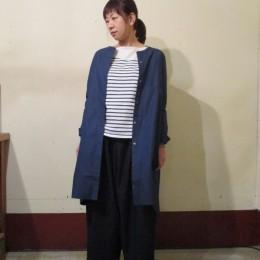 モデル:さとみちゃん 161cm/NVY着用