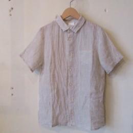 水撚りリネンシャツ (Beige)