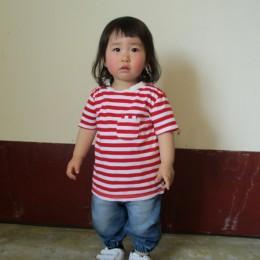 モデル:かおちゃん(1さい9か月) 80cm,10kg/着用サイズ:2 ( RED着用 )