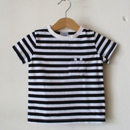 W-POCKET BORDER S/S (BLACK)