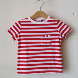 W-POCKET BORDER S/S (RED)