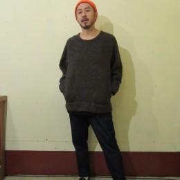 モデル:フジワラさん 172cm,60kg/着用サイズ:2