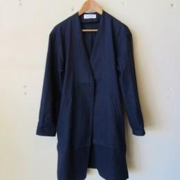 Linen Gown (Navy)