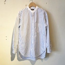 Banded Collar Shirts (BLUE STRIPE)