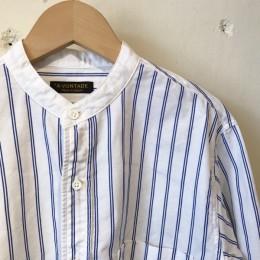 「BLUE STRIPE」 のみ襟の部分を白に変えた、クレリック仕様になってます。