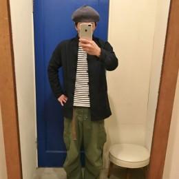 モデル:フレンチチャイナ(?)の、店主 172cm,57kg/着用サイズ:3