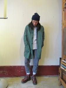 モデル:ご参考まで(・・。)の、店主 172cm,57kg/着用サイズ:2 (Green着用)