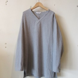 L/S V-neck Shirt (Gray)