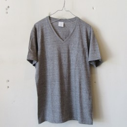 US Cotton V-Neck T-Shirt S/S (GREY TOP)