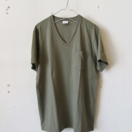 US Cotton V-Neck T-Shirt S/S (OLIVE)