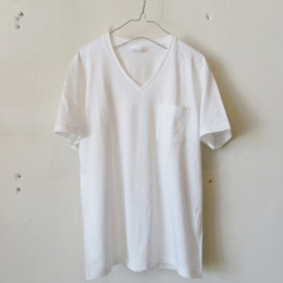 US Cotton V-Neck T-Shirt S/S (WHITE)
