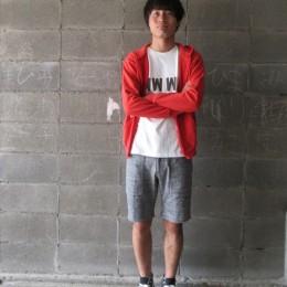 モデル:たけうちくん 174cm,62kg/着用サイズ:M