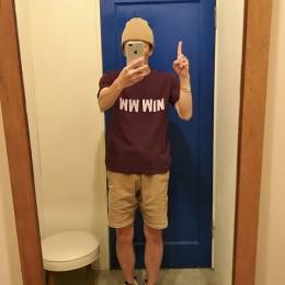 モデル:あとひとつ!(応援したかったな・・)の、店主 172cm,57kg/着用サイズ:M (Purple着用)