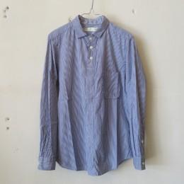 スモールカラーシャツ(ネイビーストライプ)
