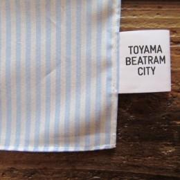サイドにちらりと「TOYAMA BEATRAM CITY」のタグが付いてます。