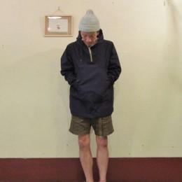 モデル:「長そで+ショーツ」がマイブーム(?)な、店主 172cm,57kg/着用サイズ:S