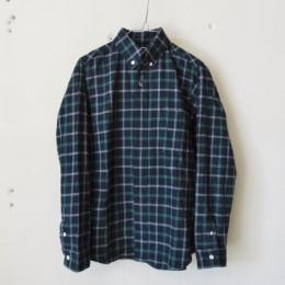 ボタンダウンシャツ(ネイビーxグリーン)