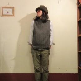 モデル:空模様が気がかり(?!)な、店主 172cm,57kg/着用サイズ:3