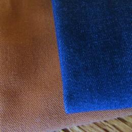 (ひだりから)Brown Duck, Blue Denim になります。