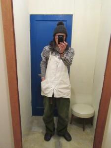 モデル:シロズリー(・・。)の、店主 172cm,57kg/ wash White着用
