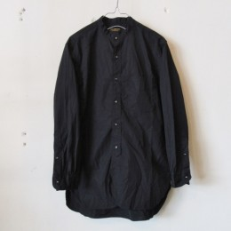 Banded Collar Shirt (BLACK)