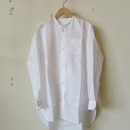 no collar long shirts (WHITE)