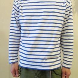 バスクシャツ:white x royal 着用 / 着用サイズ:44