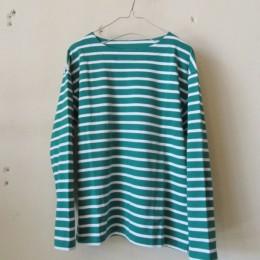 バスクシャツ (green x white)