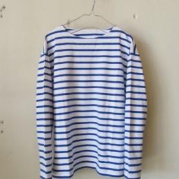 バスクシャツ (white x royal)