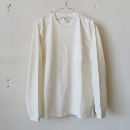 Pocket L/S T-Shirt (Ivory)