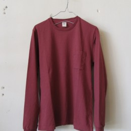 Pocket L/S T-Shirt (Old Maroon)