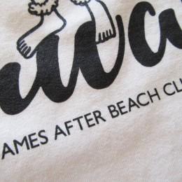 よく見ると・・姉妹店の「JAMES AFTER BEACH CLUB」のロゴも入ってます。