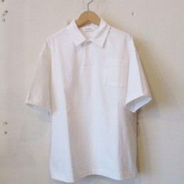 S/S Wide Polo Shirt (White)