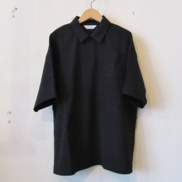 S/S Wide Polo Shirt (Black)