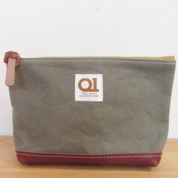 MAIL pouch (rust x brown leather)