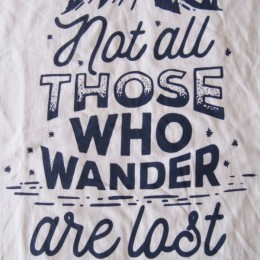 """ not all THOSE WHO WANDER are lost. """
