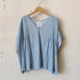 khadi pin tuck no sleeve BL (L. BLUE)