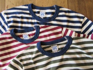 W-Pocket Border S/S Tシャツ