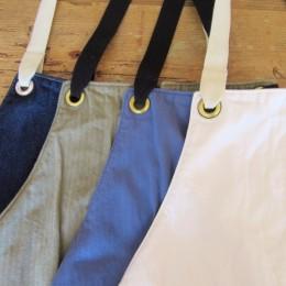 (ひだりから)denim, olive, blue, White になります。