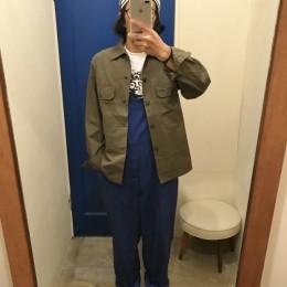 着用するとこんな感じです。(モデル:ド根性(バル吉?)店主 172cm,57kg/着用サイズ:S )