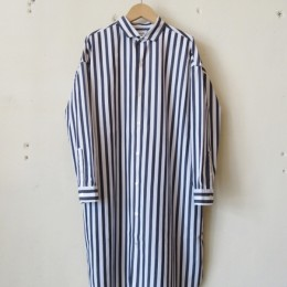 Big Shirts Dress (NVY x WHT)
