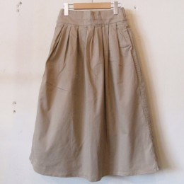 LADIES` Tucked Skirt (BEG)