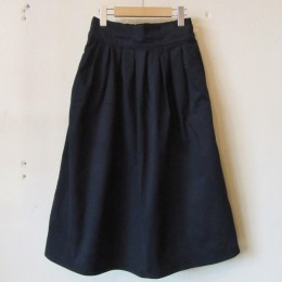 LADIES` Tucked Skirt (NVY)