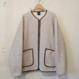 Wool Pile Zip Cardigan (NATURAL)
