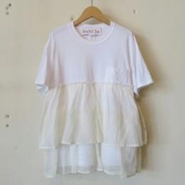 リメイクフリルポケットTシャツ (WHITE)