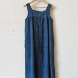 No sleeve Dress (indigo)
