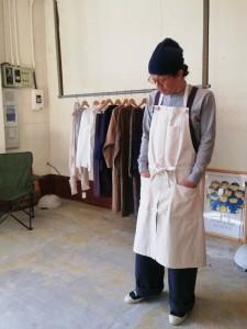 モデル:洋ふく屋(です?)の、店主 172cm,57kg /KINARI着用