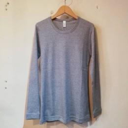 2重ネックロングスリーブ (top gray)